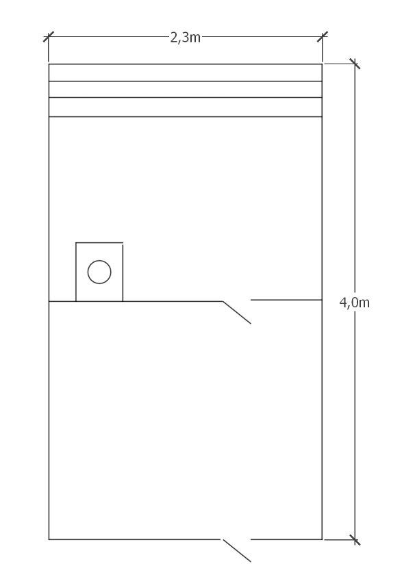 Проект бани из профилированного бруса 2.3х4м под ключ