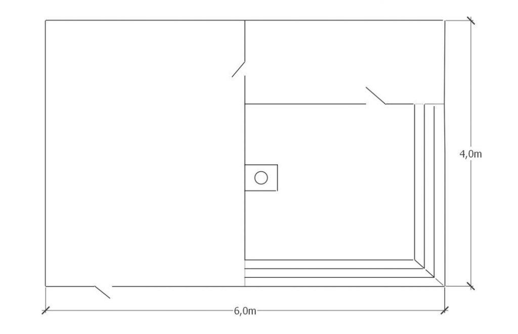 Проект бани из профилированного бруса 6х4м под ключ